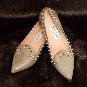 Jimmy Choo Pointed Toe Spiked Kitten Heel